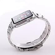 시계에 대한 애플 시계 시계 38mm 42mm 스테인레스 스틸 팔찌 나비 버클