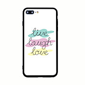 For Pattern Case Back Cover Case Word Phrase Hard Acrylic for iPhone 7 Plus 7 6s Plus 6 Plus  6s 5s 5 SE
