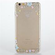 용 투명 패턴 케이스 뒷면 커버 케이스 꽃장식 소프트 TPU 용 Apple 아이폰 7 플러스 아이폰 (7) iPhone 6s Plus iPhone 6 Plus iPhone 6s 아이폰 6