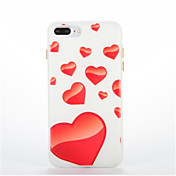 Para Fosforescente Diseños Funda Cubierta Trasera Funda Corazón Suave TPU para AppleiPhone 7 Plus iPhone 7 iPhone 6s Plus iPhone 6 Plus