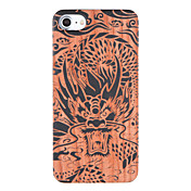 용 엠보싱 텍스쳐 패턴 케이스 뒷면 커버 케이스 동물 하드 나무 용 Apple 아이폰 7 플러스 아이폰 (7)