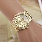 여성용 패션 시계 모조 다이아몬드 시계 모조 다이아몬드 스위스 디자이너 합금 밴드 우아한 실버 골드