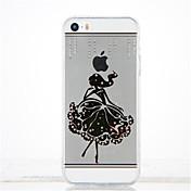 용 크리스탈 DIY 케이스 뒷면 커버 케이스 섹시 레이디 소프트 TPU 용 Apple iPhone SE/5s iPhone 5
