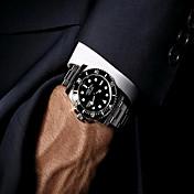 남성 아가씨들 스포츠 시계 밀리터리 시계 드레스 시계 패션 시계 손목 시계 석영 달력 스테인레스 스틸 밴드 빈티지 참 뱅글 멋진 캐쥬얼 블랙 실버 골드 멀티컬러 그린 골든 블랙 블랙/실버 로즈 골드/실버