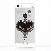 용 크리스탈 투명 DIY 케이스 뒷면 커버 케이스 심장 소프트 TPU 용 Apple iPhone SE/5s iPhone 5