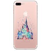 용 투명 패턴 케이스 뒷면 커버 케이스 카툰 소프트 TPU 용 Apple 아이폰 7 플러스 아이폰 (7) iPhone 6s Plus iPhone 6 Plus iPhone 6s 아이폰 6