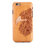 For apple iphone 6 6s case cover patrón en relieve back cover case madera de grano animal duro madera maciza