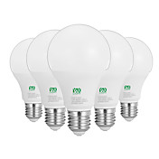 12W E26/E27 LED 글로브 전구 24 SMD 2835 1100-1200 lm 따뜻한 화이트 화이트 장식 AC100-240 V 5개