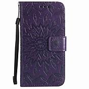 wiko lenny 3 wiko lenny 2 카드 지갑 지갑 스탠드 플립 양각 된 무늬 케이스 전신 케이스 꽃 하드 우레탄 가죽