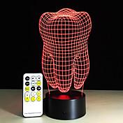 Dientes tipo 3d led lámpara dental creativo regalo colorido 3d dientes gradiente luz dental clínica obras artware noche dientes forma