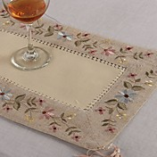 Rectangular Bordado Juego de Mesa , Lino MaterialHotel Dining Tabla Decoración del banquete de boda Cena banquete de la boda Decoración