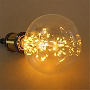 3W E27 LED 글로브 전구 G125 48 통합 LED 250 lm 따뜻한 화이트 장식 AC 220-240 V 1개