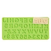숫자 편지 실리콘 몰드 퐁당 몰드 초콜릿 fimo 점토 금형 색상 랜덤