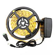 36W 유연한 LED 조명 스트립 3400-3500 lm DC12 V 5 m 300 LED가 웜 화이트 화이트