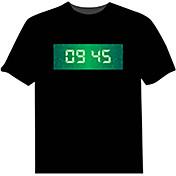 Camisetas LED  100% Algodón Novedad 4 Baterías AAA