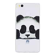 Caso para huawei p10 más p10 caso panda transparente de la cubierta del caso cubierta transparente panda suave tpu para huawei p9 p9 lite