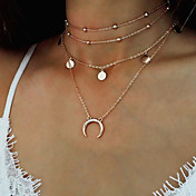 Mujer Collares con colgantes Collares de cadena Joyas Forma Redonda Luna Legierung Moda Cosecha estilo de Bohemia Joyas Para Casual Calle