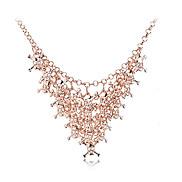 lureme®vintage Legierung mehrreihigen Schädel verbunden Muster Halskette