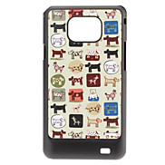 Dog Pattern Hard Case für Samsung Galaxy S2 I9100