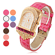 Frauen Modische Quarz Analog Zirkon-Armbanduhr (farbig sortiert)