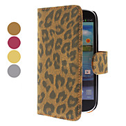 Leopard Pattern PU Leather Case with Stand and Card Slot for Samsung Galaxy S3 I9300 (Assorted Colors)