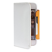 Litchi Pattern Full Body Case with Card Slot and Strap for iPhone 5/5S