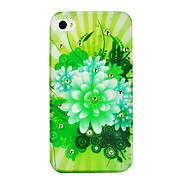 Abstract Flower Painting Zircon Back Case for iPhone 4/4S