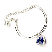Heart Crystal Adujustable Bracelet