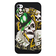 Dollar Skull Soft Case for iPhone 4/4S