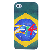 2014 Brazilian Football Pattern Hard Case for iPhone 4/4S