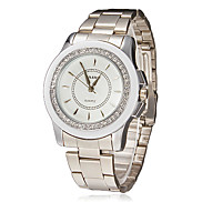 Women's Diamante Dial Alloy Band Quartz Analog Wrist Watch (Assorted Colors)