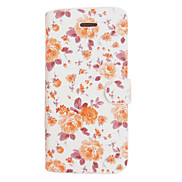 Blue White Porcelain Big Flower Leather Case for iPhone 5/5S(Assorted Color)