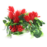 "5"" Plastic Plants Decorative Ornament for Aquarium Fish Tank (10 included, Assorted Colors)"