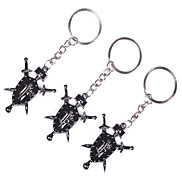 1PCS Metal Double-Edged Sword Keychain
