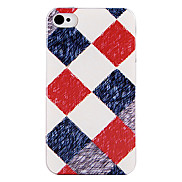 Clothing Grid Style Back Case for iPhone 4/4S
