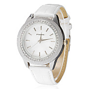 Women's Diamante Round Dial PU Band Quartz Analog Wrist Watch (Assorted Colors) Cool Watches Unique Watches Fashion Watch