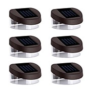 6pcs 2LED Blue Solar Lights Wall Stair Parapet Walkway Outdoor Deck Lamp