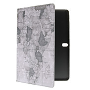 Map Pattern PU Leather Face with PC Cover Full Body Case for Samsung Note 10.1 P600/Tab Pro 10.1 T520