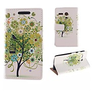 The Tree Flower Pattern PU Full Body Case with Card Slot for Motorola MOTO G
