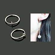 Fashion Silver 15mm Clip Earring DIY Material(1 Pc)