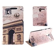 Design of The Arc DE Triomphe PU Full Body Case with Card Slot for Motorola MOTO X