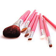 7 Pcs Pink And Colouful Cosmetic Brush