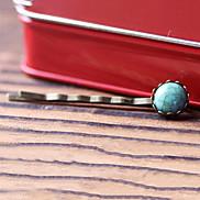 Fashion Vintage Imitation Kallaite Alloy Hairpins(1 Pc)