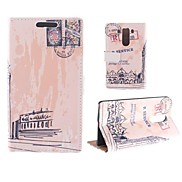 Oil Painting Design of Big Ben PU Full Body Case with Card Slot for LG G3