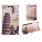 The Leaning Tower of Pisa Design PU Full Body Case with Card Slot for HTC Desire 310