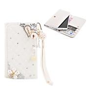 Elonbo Diamond Grain Shining Love Style Leather Wallet Full Body Case for Iphone4/5/5C