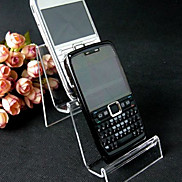 Classic MP3 Cellphone Two Floors Stand Transparent Acrylic Jewelry Displays(1 Pc)
