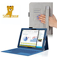 """Shy Bear™ Hand Holder Style Leather Cover Case for Microsoft Surface Pro 3 12"""" Tablet"""