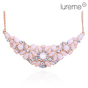 lureme®vintage Legierung Zirkon Perle verbunden Halskette