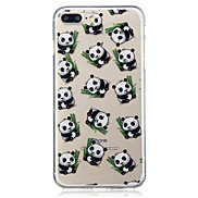 For Apple iPhone 7 7 Plus 6S 6 Plus SE 5S 5 Panda Pattern Painted High Penetration TPU Material IMD Process Soft Case Phone Case
